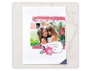 EIR Celebrate Lovely You Scrapbook Page
